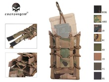 Emersongear Double Decker Magazine Pouch Airsoft Mag Pouch Military Army Bag MOLLE Camouflage 1000D Nylon EM6346 Multicam Black