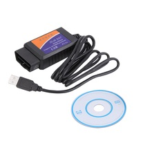 New Version ELM 327 V1.5 OBD 2 ELM327 USB Interface CAN-BUS Scanner Diagnostic Tool Cable Code Support OBD-II Protocols hot sale