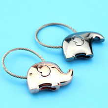 Elephant For Lovers Gift Bag Pendant Couples Key Ring Trinket Chains Car Keychain Chaveiro Innovative Items(China)