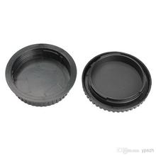 Free shipping camera Body cap + Rear Lens Cap Hood Protector for 1000D 500D 550D 600D EF EF-S Rebel T1i eos Camera