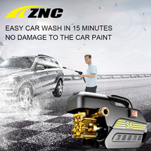 ZNC High Pressure Cleaner Car Washer 220V 80 Bar High FLow 7LPM Self Suction Cleaning Machine High Pressure Gun(China)