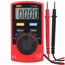 UNI-T Auto Range Digital Multimeter UT120A Mini pocket multimeter AC/DC voltage frequency multimeter Ammeter unit multimetro(China)