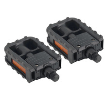 Universal Plastic Mountain Bike Bicycle Folding Pedals Non-slip Black special offer free shipping
