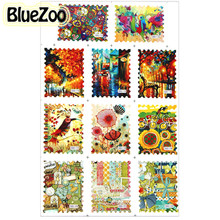 BlueZoo New Fashion 11 Kinds Vintage Flower Bird Decorative Stickers Water Transfer Postage Stamp Decal Nail Accessories