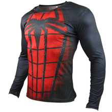 (XM Series) Milk silk fabric  3d printer Spider-Man long sleeve mens t shirts fashion 2016  compression Spiderman long-sleeve