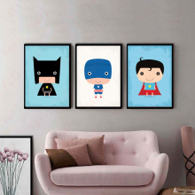 Painting Room Children's Fashion Home Decor Cartoon Superhero Avenger Batman Iron Man DC Comics Poster Canvas Art Print Image(China)
