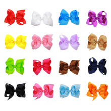 "6"" 16pcs/lot Boutique Children Big Ribbon Bow Headwear Girl's Sweet Headwear High Quality Hairpins Hair Clip Fast Free Shipping"