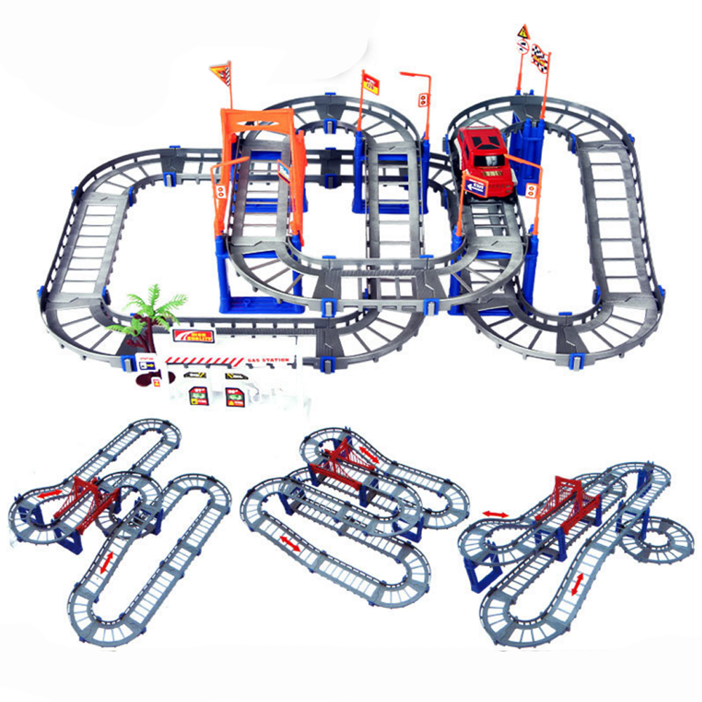 Parent-children Interaction 73PCS/set Thomas Tracking Building Kits Toy for Kids Race Track Model & Electric Speed Car 1/32 1