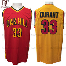 BONJEAN Cheap Kevin Durant Jersey 33 Oak Hill High School Basketball Jerseys 2 Color Throwback Stitch Shirts Free Shipping
