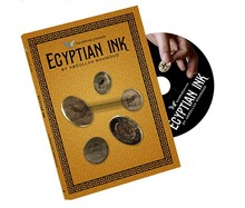 Free shipping ITgimmick Egyptian Ink (ALL and Gimmick) by Abdullah Mahmoud SansMinds - close up street coin magic trick(China)
