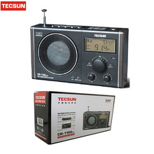 Retail-Wholesale TECSUN CR-1100 Radio AM FM MW Radio Multiband Radio Receiver Portable Audio Radio Digital Clock Display Stereo