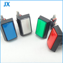 50*33mm Gaminator Push Button Illuminated Rectangle Push Button Slot Game Machine Button 8 coclors(China)