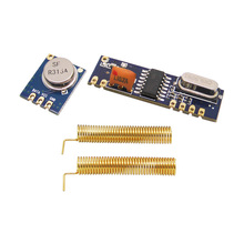 50sets Arduino Uno 315mhz/433mhz ASK Wireless RF Module Transmitter STX882+SRX882  Receiver Module +  Gold Plated Spring Antenna