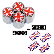 4pcs/set Metal Motorsport Car Tire Wheel Valve Caps UK for AUDI Skoda Seat Mazda Toyota Lexus Honda car cover