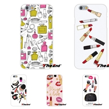 Pink Makeup on We Heart It Pattern TPU Slim Back Silicone Case Cover Skin For Huawei G7 G8 P7 P8 P9 Lite Honor 4C Mate 7 8 Y5II