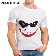 Funny Printed T-shirts Men Joker Shirt Bat man White Casual Comics Skate Harajuku Hip Hop Male Camisa Brand Clothing ZOOTOP BEAR