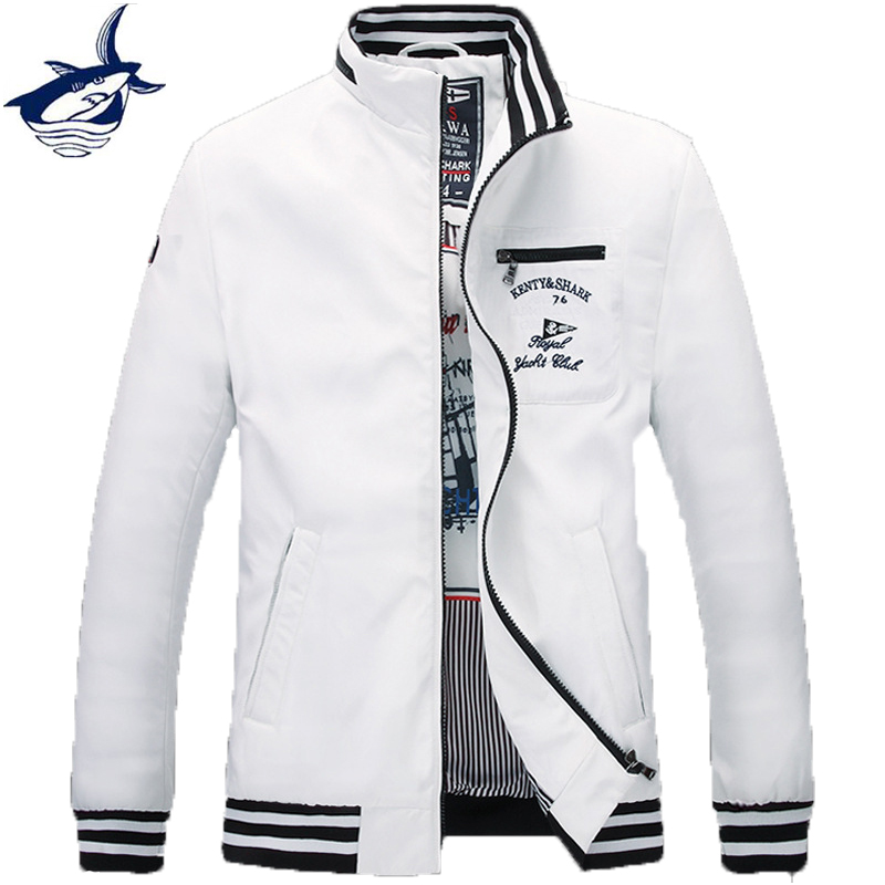 Kenty Shark Brand Clothing Men Fashion Style Jackets Plus Size 4XL Men Coat 195