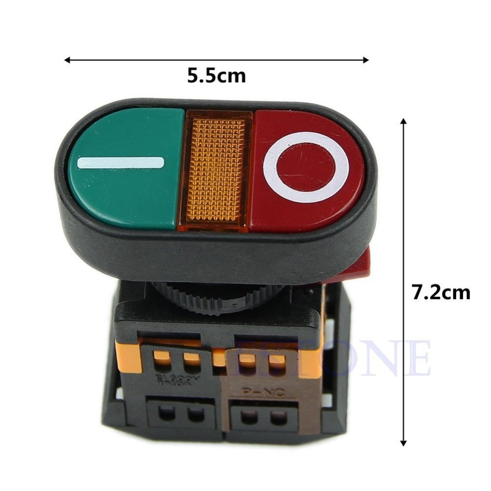 Light Indicator Momentary Switch Red Green Power ON OFF Start Stop Push Button<br><br>Aliexpress