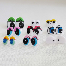 50pcs/lot new design cartoon plastic safety toy eyes & soft washer for diy plush doll findings--style option(China)