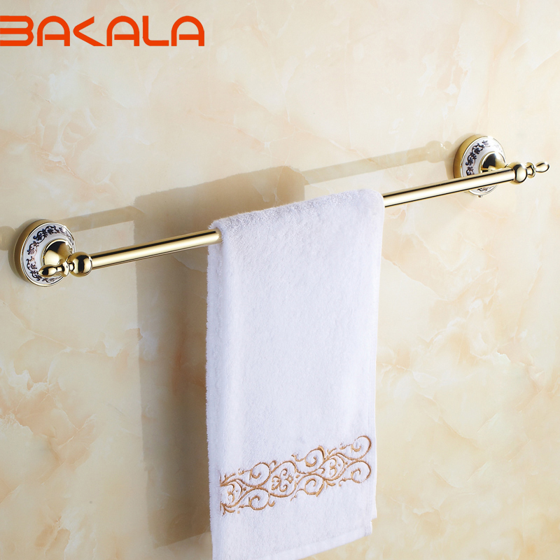 Free shipping BAKALA Fashionable Space Gilded Towel rack Towel rail Towel rod  BR-5509<br><br>Aliexpress