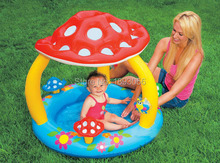 Summer Children's Swimming Pool INTEX Bath Toy Inflatable Bathtub Baby Pool Mushroom Awning Child Paddling Pool