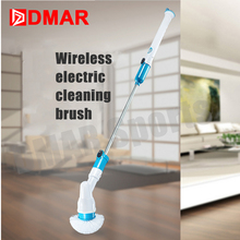 DMAR Swimming Pool Cleaning Brush Household Electric Tool Bathroom Ceramic Tile Cleaning Equipment Lengthened Handle Accessories(China)