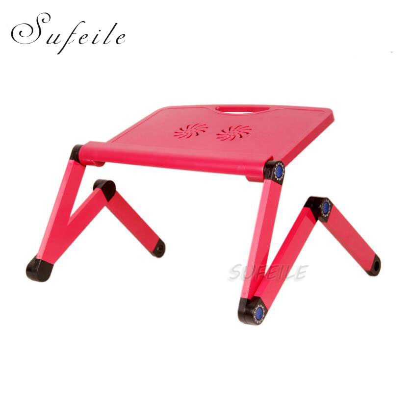 SUFEILE Laptop stand MultiFunctional Folding Laptop Table Desk Bed Sofa Tray 360 rolling Adjustable Portable Notebook Desk D15<br>