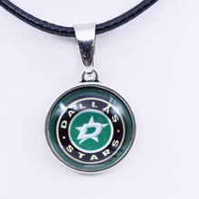 Necklaces Pendants NHL Dallas Stars Charms Ice Hockey Team Women Necklace for Girls Gifts Party Birthday Fashion 2017(China)
