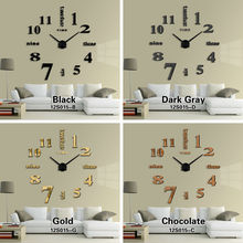 New Home decorations big mirror wall clock Modern design large decorative designer wall clock watch wall sticker unique gift(China)