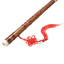 Zebra 61cm D Key Traditional Chinese Handmade Bamboo Flute with Red Bag For Woodwind Musical Instrument Lover Gift(China)