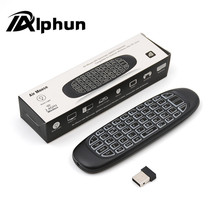 2.4GHz Wireless Gyroscope Fly Air Mouse Game Keyboard Android Remote Controller Rechargeable Keyboard for Smart TV Box Mini PC