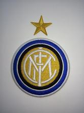 2pcs Football soccer club Serie A Inter Italy CLUB Logo iron on Patch Aufnaeher Applique Buegelbild Embroidered(China)