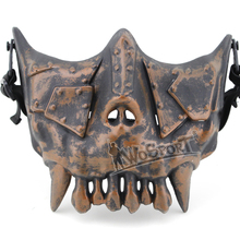 Tactical  V3 Half Face Mask Steel Mesh Zombie Skull Airsoft Mask for War Game CS Horror Cosplay Halloween Paintball Accessories