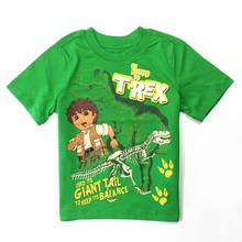 2016 baby boys clothes children clothing cartoon cute short sleeve T Shirt cotton tees tops cheap price for 2Y 3Y kids