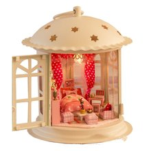 Doll House Model Furniture Diy 3d Puzzle Kit Wooden Assemble Toy Baby Room Home Decoration Voice Control Led Light Princess Deco(China)
