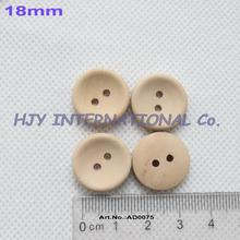 (200pcs/lot) 18mm Unfinished Personalized button plain wooden button with your own message or shop name - AD0075