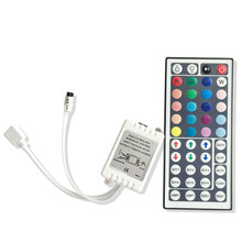 NEW DC12V 44 Keys IR Remote RGB Controller for SMD 3528/5050/5730/5630 RGB LED Strip Lights Mini IR Controller(China)