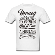 Short Sleeve Custom Money Can't Buy You Happiness But It Can Buy U A Mustang T Shirt Men Printing Big Size Team T-shirts