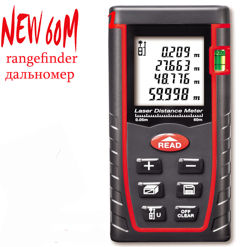 2017 New rangefinder 40M 60M 80M 100M tester meter,Electronci Ruler ,Digital Laser range finder Tape Measure Area/volume M/Ft/in<br><br>Aliexpress
