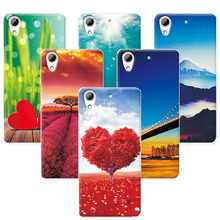 "Scenery Phone Cases For HTC Desire 626 5.0"" Case For HTC 626 628 626w 626G Soft TPU Back Cover For HTC 628 Desire Dual Sim capa(China)"