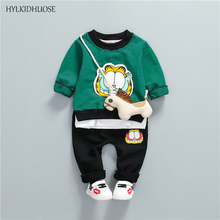 Buy HYLKIDHUOSE 2018 Spring Infant Clothes Sets Cotton Baby Girls Boys Suits Stripe Cartoon T Shirt+Pants Casual Children Kids Suits for $10.99 in AliExpress store