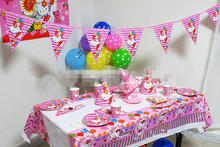 58pcs/set Pink Luxury Hello Kitty Party Supplies Kids Birthday Party Packs Baby Shower Party Decorations Invitation/Table Cloth