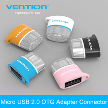 VENTION mini Micro USB OTG Hug 2.0 Converter Camera Tablet MP3 OTG Adapter for Samsung Galaxy S3 S4 Sony LG Microusb OTG cable(China)