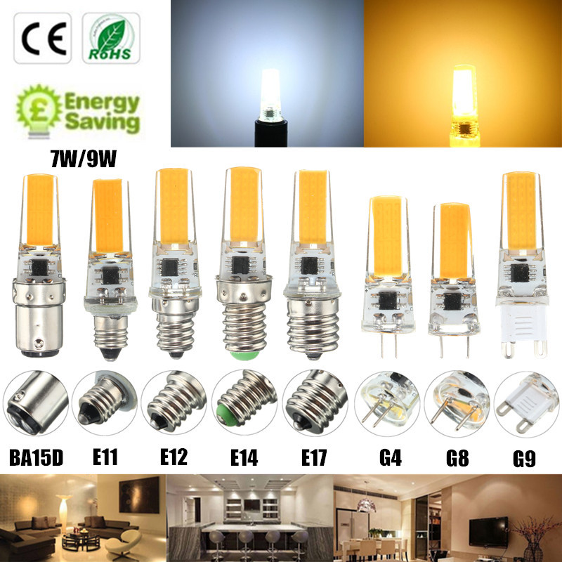 Smuxi Dimmable COB LED Light Bulb E12 E11 E17 G8 BA15D E14 G4 G9 2.5W Lamp Replace Spotlight Bulb Chandelier Lighting