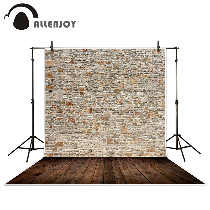Allenjoy photography backdrops Stonewall neatly arranged wood brick wall backgrounds for photo studio<br><br>Aliexpress