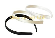 13mm satin headband, for sinamay fascinators kentucky derby hat hair accessories.black,white,cream color.