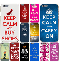 Lavaza keep calm and be free Hard Case for iphone 4 4s 5c 5s 5 SE 6 6s 6/7/8 plus X for iphone 7 case(China)