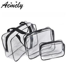 PVC Transparent Cosmetic Bags Women Travel Make up Toiletry Bags Make up Handbag Waterproof Cosmetic Bags sc0328/o(China)
