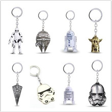 Buy Star Wars Keychain Spacecraft warship Han Solo's Millennium Falcon Destroyer Ship StormTrooper Darth Vader Helmet Key Chains for $1.55 in AliExpress store
