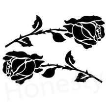 Two Beautiful Roses Car Wall Home Glass Window Door Car Sticker Auto Car Truck Laptop Black Flower Vinyl Decal Sticker Gift